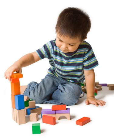 Active Learning-Boy Playing with Blocks Web